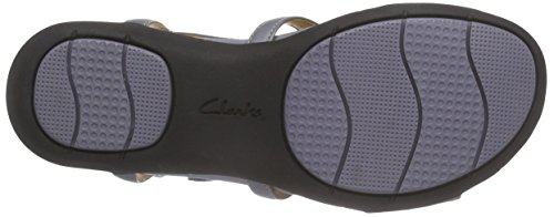 Clarks Un Valencia - Sandalias Mujer Grey Blue Leather