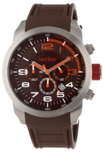 red-line-mens-rl-60003-overdrive-chronograph-brown-textured-dial-brown-silicone-watch