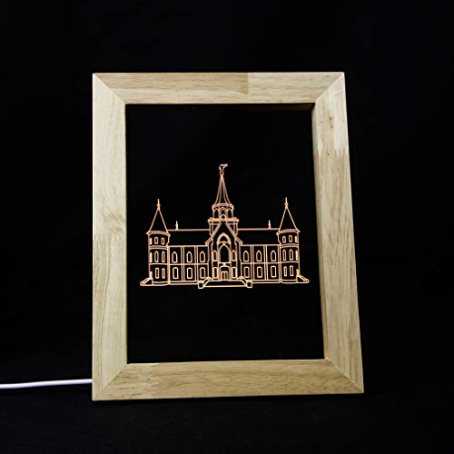 LDS Provo City Center Utah Temple Illuminated Picture Frame (No Border)