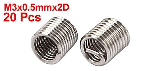Ochoos M3 X 0.5Mm X 2D Stainless Steel Wire Thread Repair Insert 20Pcs