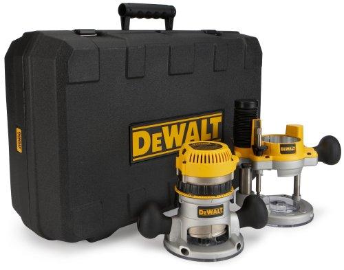 DEWALT-DW618PK-Juego-de-Fresadora-y-Rebajadora-de-Velocidad-Variable-y-Base-Fija-12-A-1-14-Hp