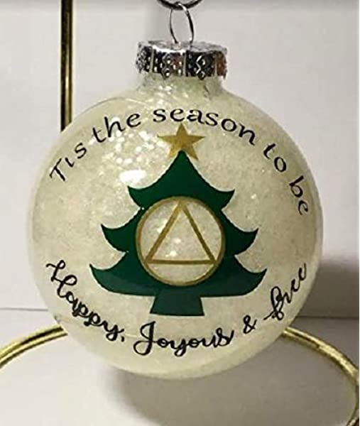 Alcoholics Anonymous recovery gift stained glass suncatcher ornament