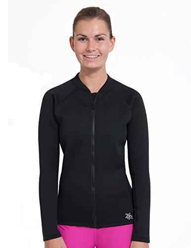 Tuga Women's Thermal Zip Top, Black, 2X-Large