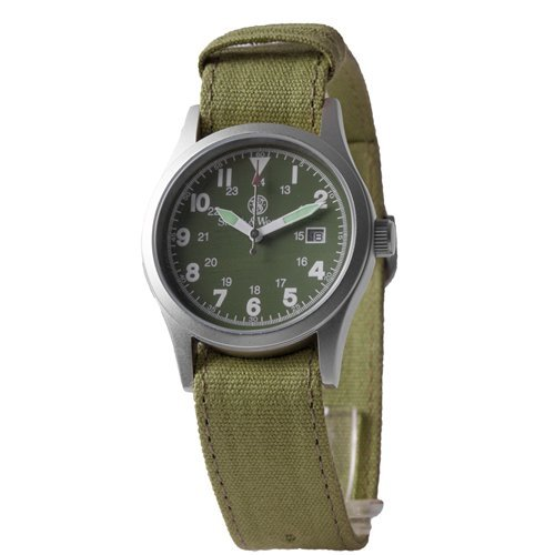 Smith & Wesson Military Multi Canvas Strap Watch Olive Drab SWW-1464-OD