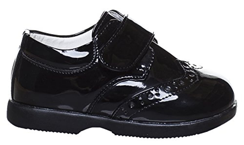 Paisley of London, Boys Black Shoes, Velcro Shoes, Baby Boys Shoes, Infant 1