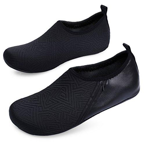 Black De Chaussettes Bassin À Surf Hommes Le Chaussures Sport Séchage Rapide Pocket Joinfree Yoga Plage Aqua Femmes 5wOZxIq