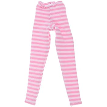 New 1//6 Dolls Stripe Leggings Pants Dress Up for Blythe BJD SD DOD LUTS Doll