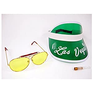 Largemouth Raoul Duke Hunter S Thompson Fear & Loathing In LAS Vegas Costume Visor Kit (Yellow Lenses)