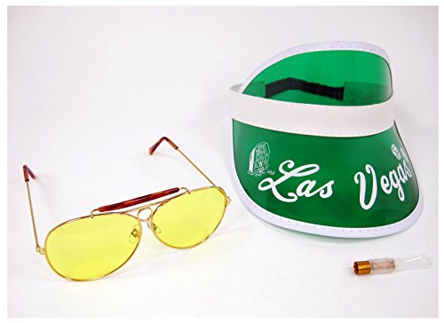 [Raoul Duke Hunter S Thompson Fear & Loathing in Las Vegas Costume Visor Kit (Yellow Lenses)] (Gonzo Adult Costumes)
