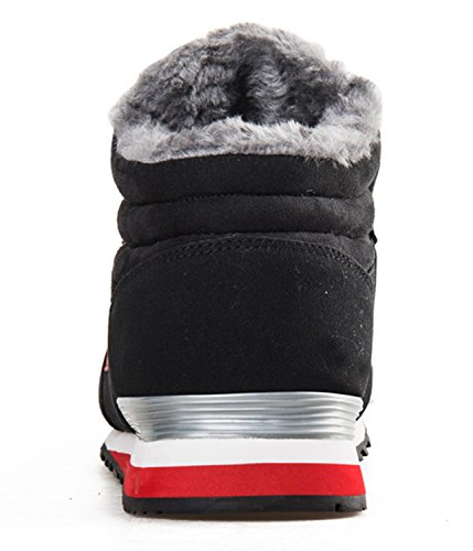 Lightweight Winter Red Slip Fur Anti Booties Ankle Shoes On Boots Boots Lined Women Outdoor men Snow Waterproof slip Snow Men nw4axU8qUY