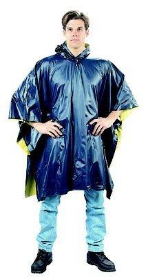 3644 Navy Blue to Yellow Reversible PVC Poncho