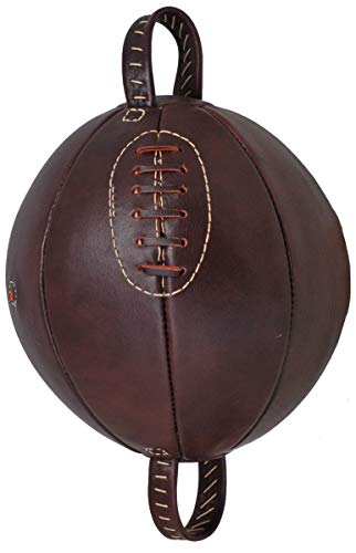 Vintage Style Geniune Leather Hand Stiched Boxing Punch Ball Brown