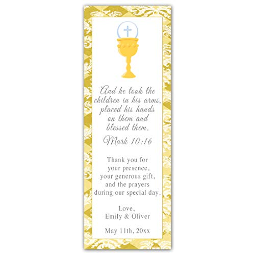 Pink The Cat 50 Bookmarks Boy Girl Twins First Communion Favor Gift Idea Unisex]()