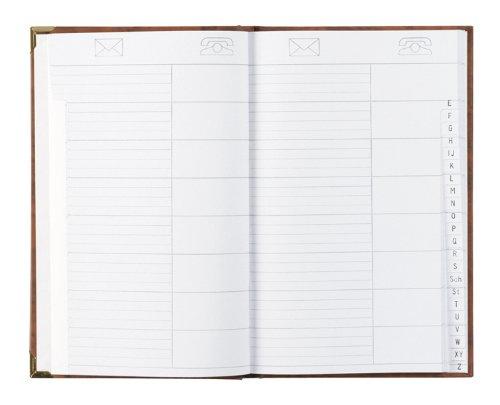 Adress-u. Telefonbuch mit 2 Messingecken Stylex