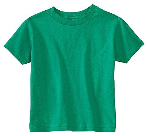 Rabbit Skins Toddler's 5.5 Oz. Jersey Short-Sleeve T-Shirt, 3T, Kelly