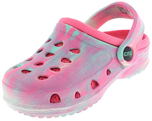 Capelli New York Toddler Girls Tie Dye Clog with Backstrap Pink 6/7