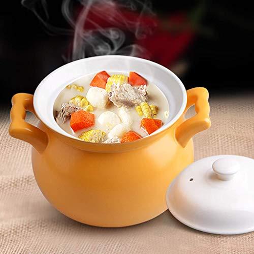 Cacerola Estufa de Gas para el hogar Olla de cerámica Olla de Alta Temperatura Sopa olla-2L: Amazon.es: Hogar