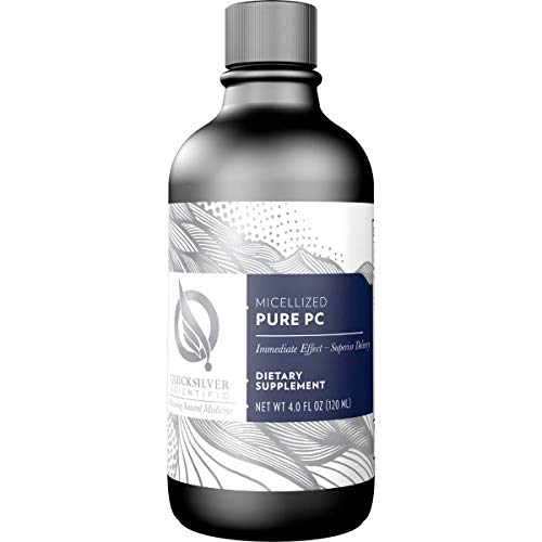 Quicksilver Scientific Micellized Pure PC – Phosphatidylcholine Liquid Supplement to Support Cell Replenishment, Cognitive Function Liver Detoxification, Gluten-Free 4 Ounces, 120 Milliliters