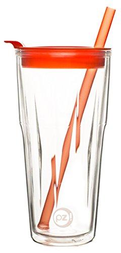 - Zak Designs Gem Tumblers 16 oz. Double Wall Tumbler, Carrot