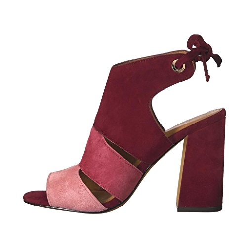 Comfy YDN Pumps Red Shoes Peep Toe Bootie Boots Slide Heels Casual Women's Chunky Fashion SxxOX4nv