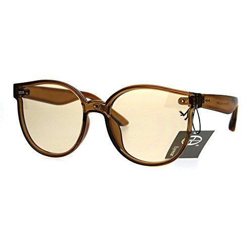 Hipster Round Horned Geek Nerdy Plastic Sunglasses - Guy Glasses Nerdy