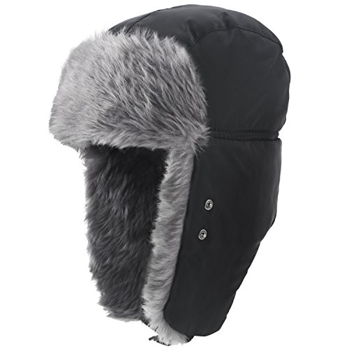 e4d62d0856e Prooral Hunting Hat Ushanka Ear Flap Chin Strap and Windproof Mask ...