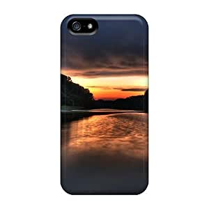 Fashionable Iphone 5/5s Case Cover For Donau Sunrise Donau Sonnenuntergang Protective Case