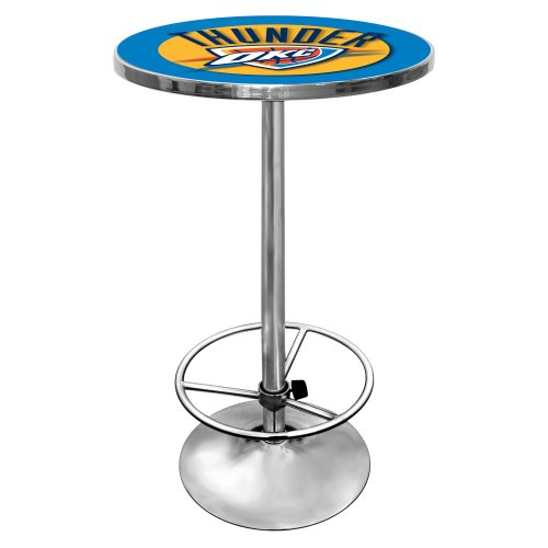 NBA Oklahoma City Thunder Chrome Pub Table by Trademark Gameroom