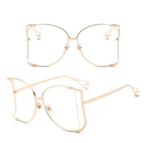 Gafas Sol Libre Sol de de Sol 6 del Marco Ruikey Aire Perla la Grande La de Gafas Señora de Manera de de la Gafas al qZ6cwP4