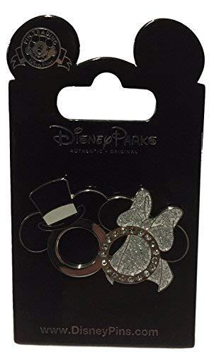 Disney Parks Mickey Minnie Wedding Rings Set Trading Pin