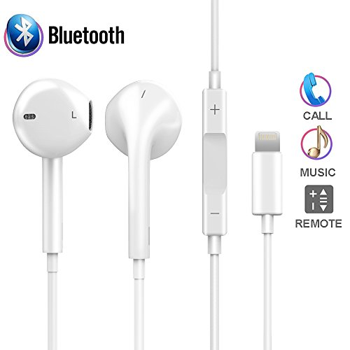 iPhone 7 Earbuds, Earphones Lightning Headphones iPhone 7 7plus/8/8plus, Onlier Microphone Earphones Stereo...