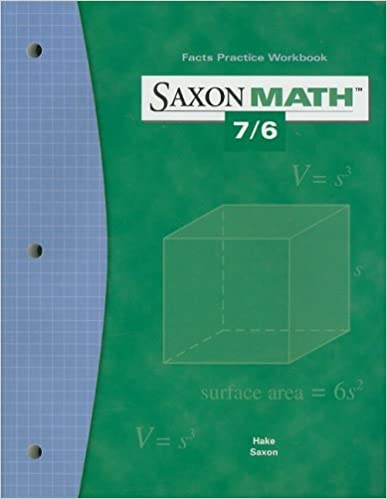 Saxon Math 7/6: Fact Practice Workbook: SAXON PUBLISHERS ...