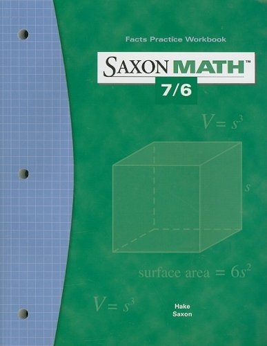 Saxon Math 7/6: Fact Practice Workbook