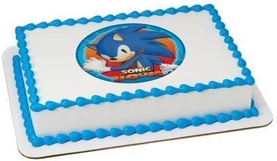 Sonic The Hedgehog Sonic Boom Licensed Edible Cake Topper 58165 By Decopac Amazon Ca Home Kitchen