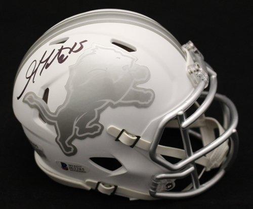 Lions Autographed Mini Helmet (Golden Tate Autographed Detroit Lions Riddell ICE Mini Helmet BAS)