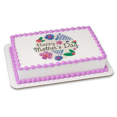 Mothers Day Edible Icing Image for 1/4 sheet cake