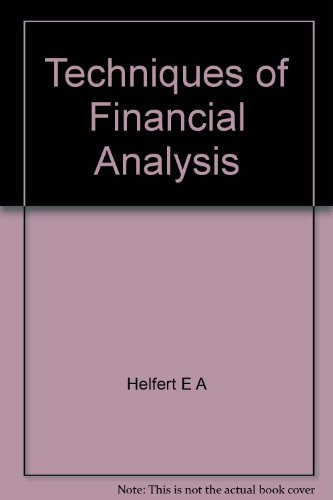 Techniques in financial analysis