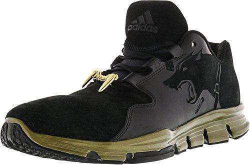 Zapatillas De Deporte Adidas Para Hombre Gameday Snoop Con Punta En Piel De Tobillo Core Black / Core Black / Gold Metallic