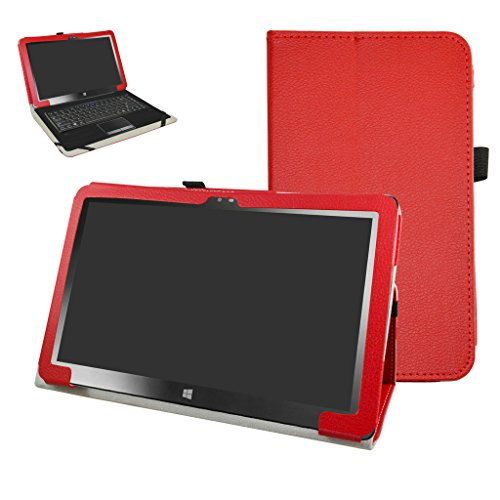 Insignia 11.6 NS-P11W7100 / NS-P11A8100 Case,Mama Mouth PU Leather Folio Stand Cover for 11.6 Insignia 11.6 NS-P11W7100 / NS-P11A8100 11.6 Inch Windows 10 Tablet PC,Red