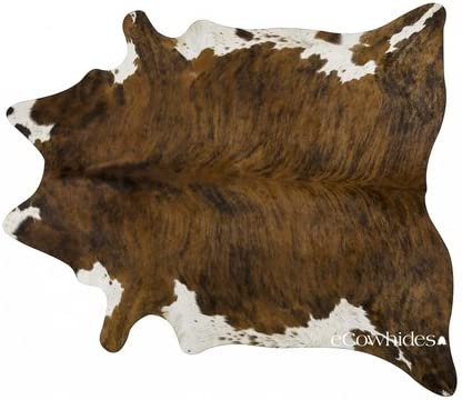 ecowhides Brindle White Belly Brazilian Cowhide Area Rug