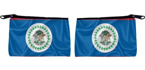 Rikki KnightTM Belize Flag Design Scuba Foam Coin Purse