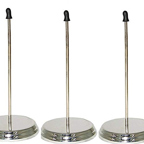 (Mydio The Office Wire Receipt Spindle,Chrome Receipt Holder,5.1inch Straight Rod Paper Memo Receipt Holder Bill Fork Spike Stick(3 Pack))