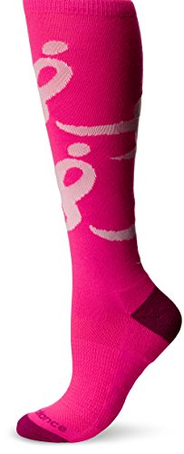 New Balance Women's Lace Up for The Cure OTC Socks, Pink, - Pink Balance Ribbon New