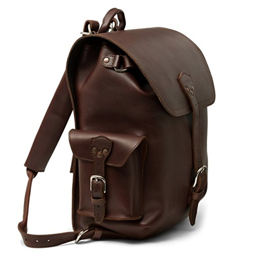 Saddleback Leather Co. Simple Full Grain Leather Backpack Book Bag for School Work Travel Laptops Includes 100 Year Warranty