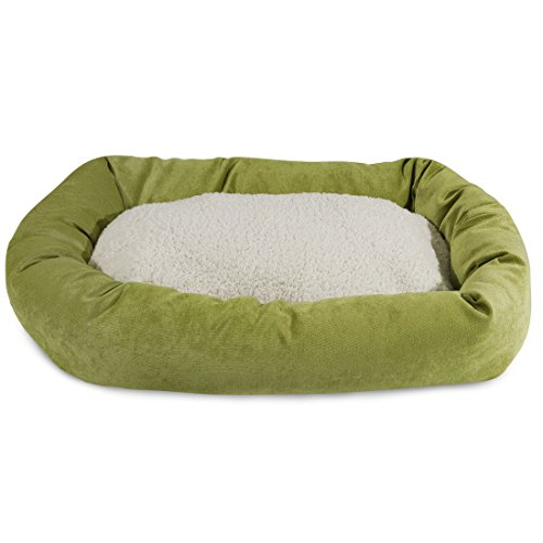 32 inch Apple Villa Collection Sherpa Bagel Dog Bed