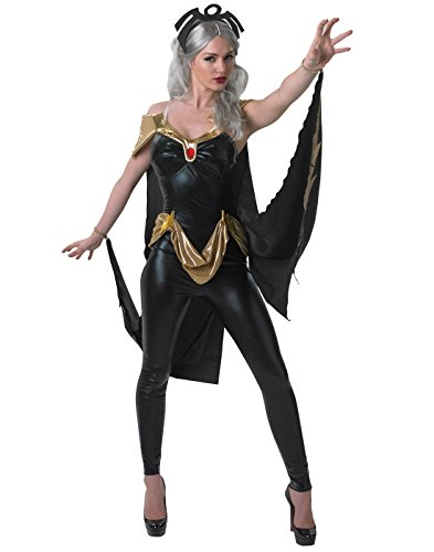 Marvel Secret Wishes Women's Universe Secret Wishes Storm Costume Cat Suit and Mask, Multicolor, Medium