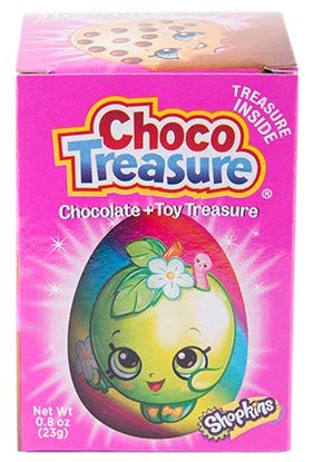 Shopkins Choco Treasure Eggs with Toy Surprise!, Tray of 12 Eggs | 24 Collectible Toys | Fun For All Ages