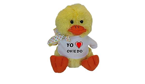 Shopzeus Pollo de Peluche (Juguete) con Amo Oviedo en la Camiseta (Ciudad / asentamiento): Amazon.es: Juguetes y juegos