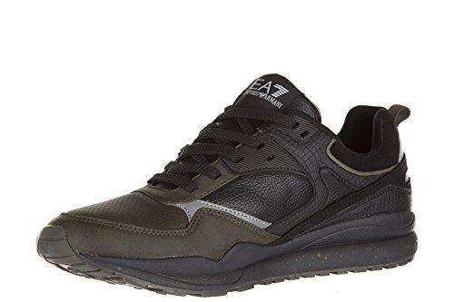 Emporio Armani EA7 scarpe sneakers uomo nuove orginale nero Nero