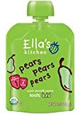 Ella's Kitchen Organic Stage 1, Pears Pears Pears, 2.5 Ounce (Pack of 6)